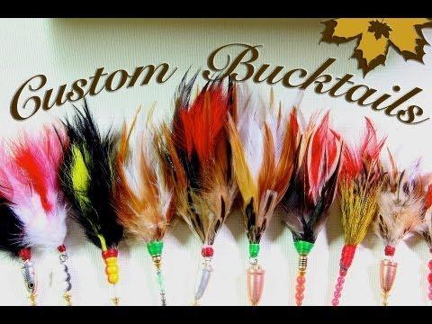 Homemade & Custom Fishing Lures - DIY Bucktail spinners for big muskie pike walleye & bass