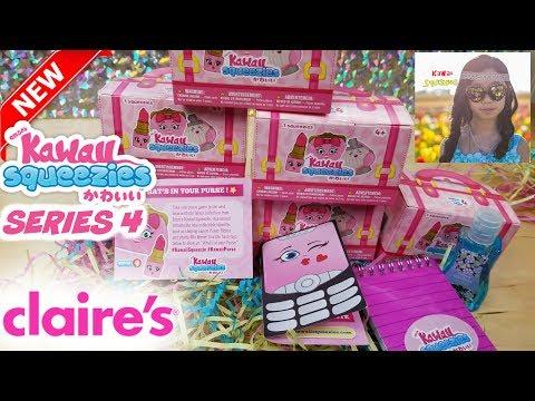 KAWAII SQUEEZIES SERIES 4 SQUISHIES AVAILABLE AT CLAIRE'S BLINK BAG #Kawaiisqueezies #Kawaiipurse