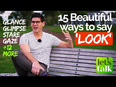 15 Beautiful Ways to say 'Look' | English speaking Practice lesson with a native English Teacher
