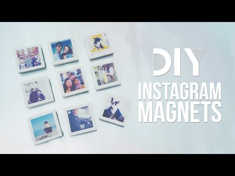 ✂ DIY Instagram Polaroid Magnets