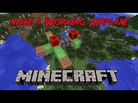 How to Build a Working Airplane or Flying Machine in Minecraft Xbox/PlayStation/PC! Tips With Tyler