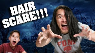 HAIR SCARE PRANK!!!  Dad Gets Hair Extensions + NEW MUSIC CHANNEL!