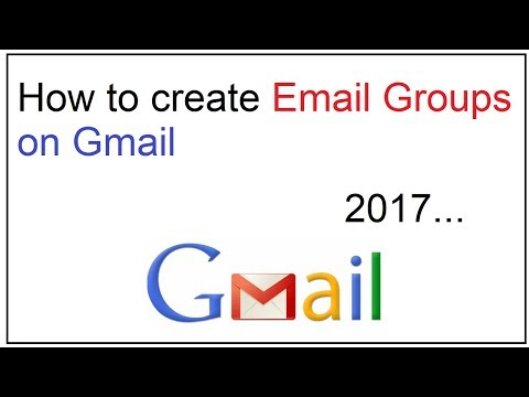 how to create email groups on gmail