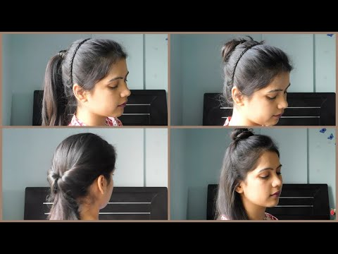 4 Cute And Easy Summer Hairstyle | 4 Everyday Heatless Easy Hairstyle || TipsToTop By Shalini