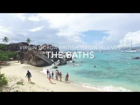 Virgin Gorda British Virgin Islands Rare Drone Video