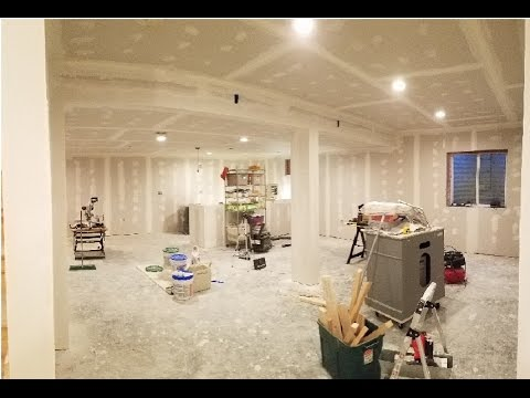 7. Finishing Basement - Taping & Mudding Drywall