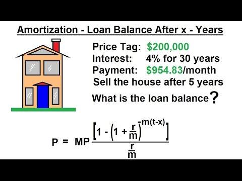 Business Math - Finance Math (23 of 30) Amortization - Loan Balance After x- Years