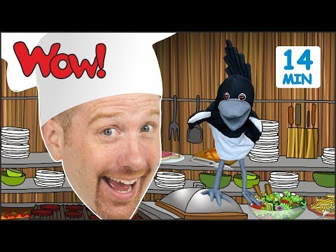 Wake up, Steve and Maggie + MORE Stories for Kids from Steve and Maggie | Learn Wow English TV