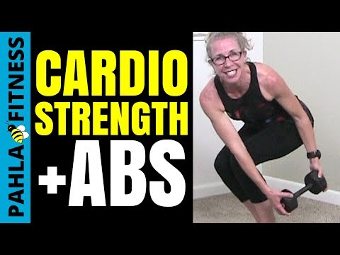 FLUFF BUSTER Workout (NO AUDIO!) | 45 Minute CARDIO, STRENGTH + ABS Ladder for Fast and FUN Fat Loss