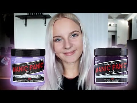 How to dye your hair lilac/silver tutorial