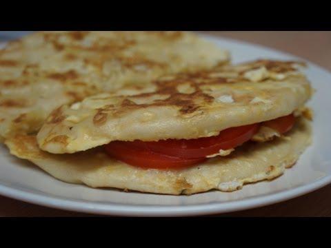 Egg Toast with Pita Cheese Tomato
