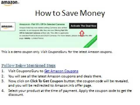 Amazon Offers and Coupons to Save money at Amazon.in