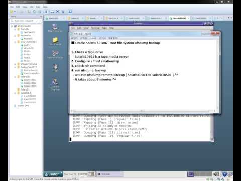 Oracle Solaris 10 x86 - root file system ufsdump backup