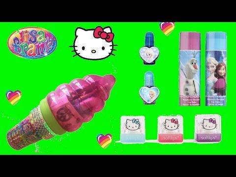 HELLO KITTY LISA FRANK FROZEN Kids Makeup Beauty Haul! Unboxing