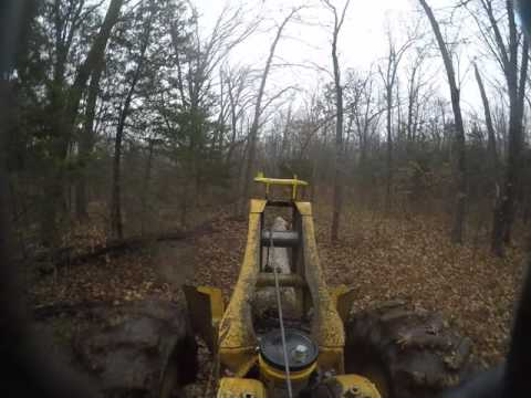 540B skidder pulling White Oak logs from a draw