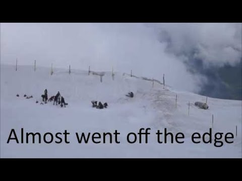 Almost went off the edge .... Almost ( Mount Titlis, Switzerland)