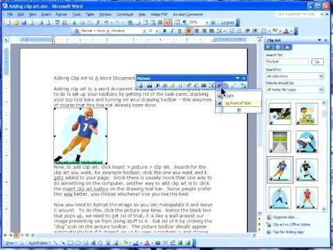 MS Word - Adding Clip Art