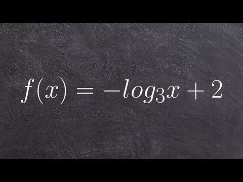 Learn to graph a logarithmic equation and find the x intercept