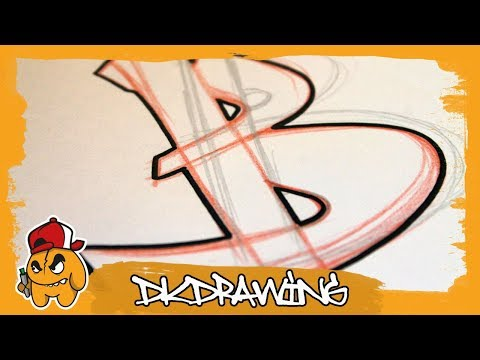 Graffiti Tutorial for beginners - How to draw & flow your graffiti letters - Letter B