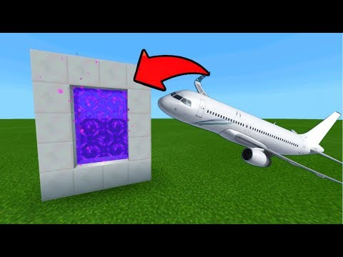 Minecraft Pe How To Make A Portal To The Airplane Dimension - Mcpe Portal To The Airplane!!!