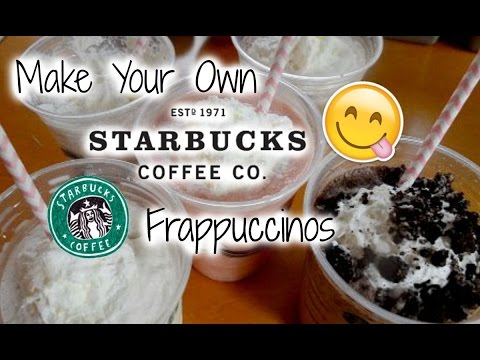 ➳Make Your Own ☕STARBUCKS Frappuccinos☕