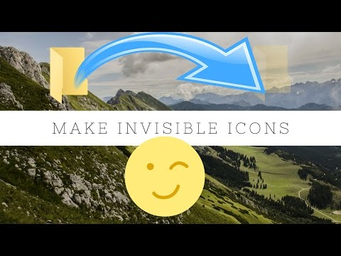 How To Make Invisible Icons In Windows 10 | PC Tricks