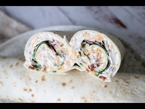 Jalapeño Popper Chicken Salad Wraps - Easy Lunch Recipe - By One Kitchen