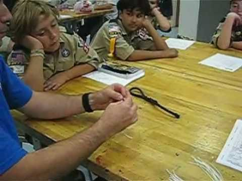 Cub Scouts Learn to Whip and Fuse Rope Ends