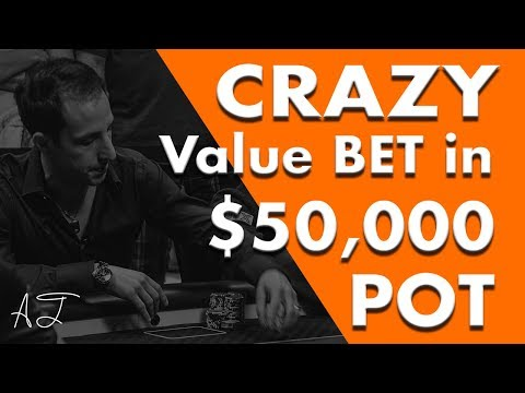 Alec Torelli Makes CRAZY Value Bet in $50,000 Pot on Poker Night in America