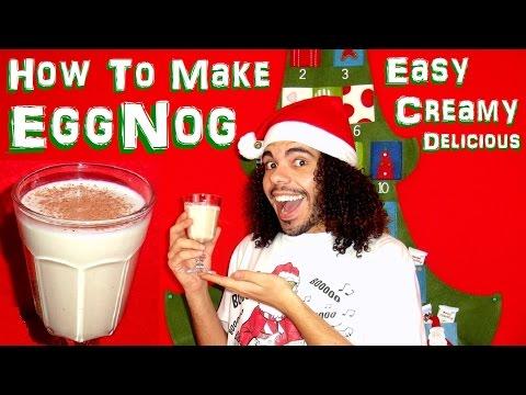 X-MAS Special: How to make easy creamy EggNog homemade christmas holidays recipe cooked
