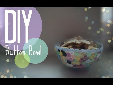 DIY  How to make a button bowl   CuteNailPolishArt