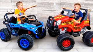 Vlad and Niki play Monster Truck Game for children