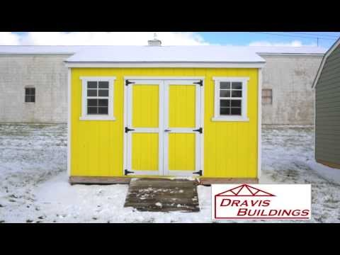 Most Popular Dravis Buildings options - T 111 & Vinyl Sided and 12 x16 Barn Roof Shed Web Export