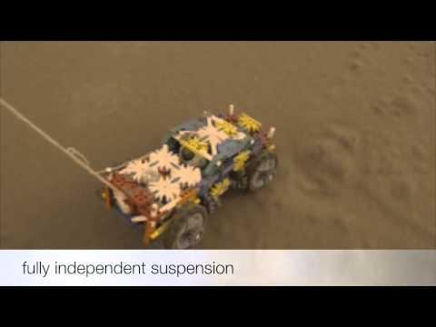 knex car with suspension racing