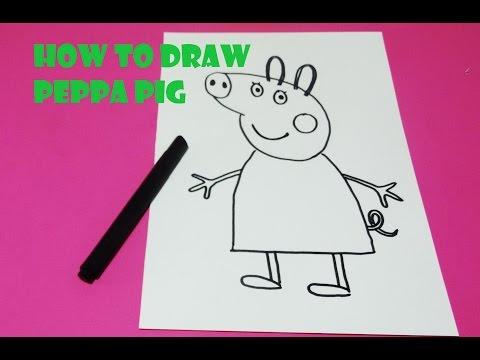 Peppa pig hand drawing