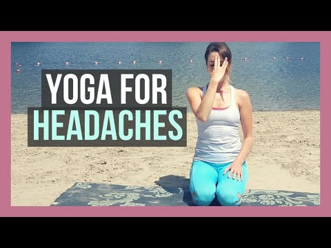 Yoga for Headaches & Migraine Relief - Gentle Yoga for Tension Headaches {15 min}