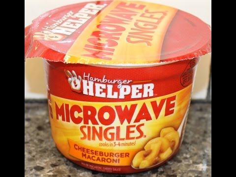 Hamburger Helper: Cheeseburger Macaroni Microwave Singles Review