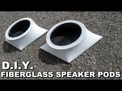 DIY DIAMOND FIBERGLASS SPEAKER PODS - SIMPLE EASY BUILD