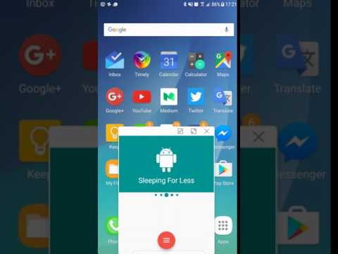 Pop-up View in Samsung with Android N
