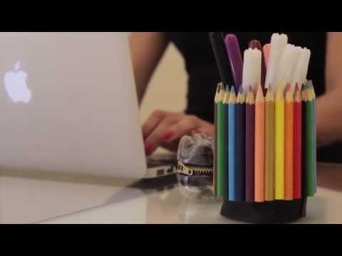 DIY  Personalized wood pencil holder