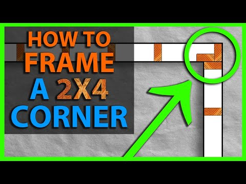 How To Frame a 2x4 Wall Corner
