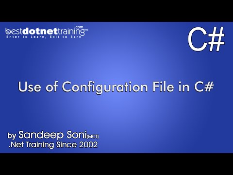 C# tutorial for beginners - Use of Configuration File in C#