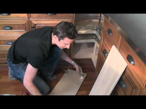 How to install bi fold lazy susan cabinet doors