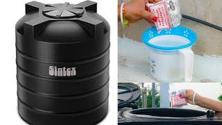 बिना खर्च के मिनटों में पानी की टंकी साफ करें।बिना रगड़े 1000 लीटर की पानी की टंकी साफ करें।