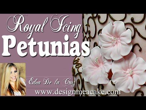 How to Make Royal Icing Petunias