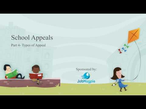 4 School Appeals Types of appeal (School Appeal)