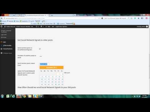 Automated Social Media Marketing - Wordpress Plugin Social Network Signals