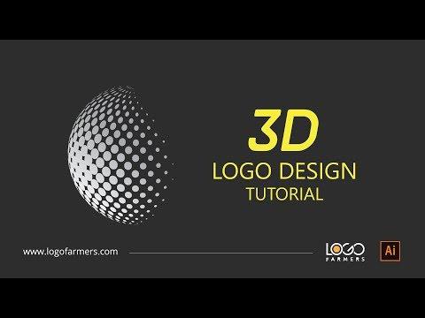How to design 3D halftone gradient ball logo design - Adobe illustrator
