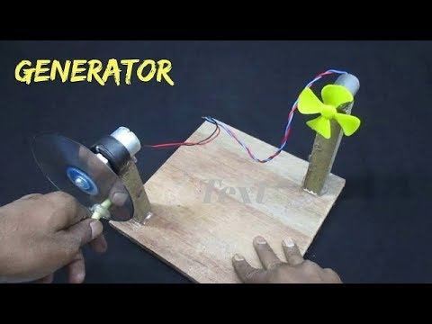 How to make a GENERATOR for Science Project- Hand Operated