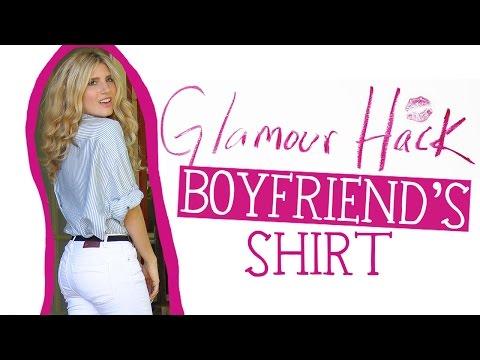 Glamour Hack: Boyfriend's Shirt | DIY Style | Mr Kate